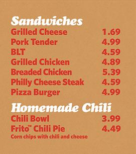 Sandwiches & Homemade Chili